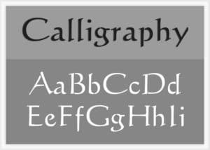 Calligraphy Font Alphabet Stencil