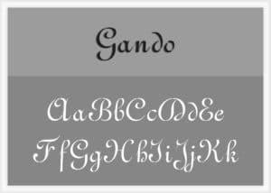 Gando Font Alphabet Stencil