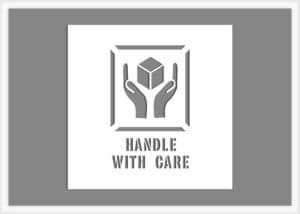 handle with care shipping stencil