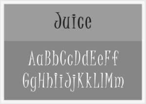 Juice Font Alphabet Stencil