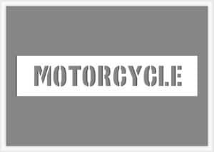 Motorcycle Stencil