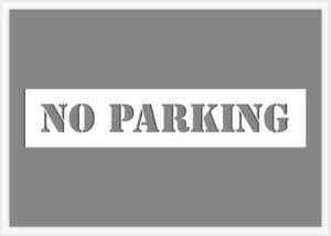 No Parking Stencil - 1 line