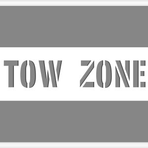 Tow Zone Stencil parking lot stencil