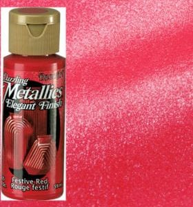 Festive Red Metallic Acrylic Paint