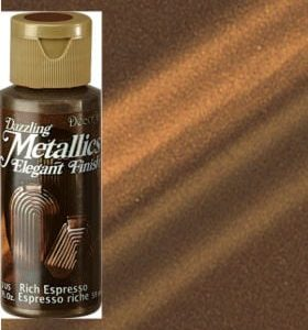 Rich Espresso Metallic Acrylic Paint