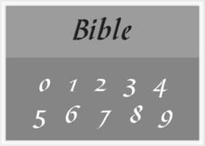 Bible Font Number Stencil