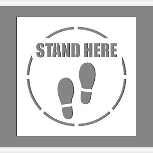 stand here sign stencil